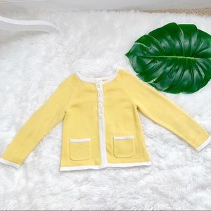 Gymboree Sweater Cardigan Size 4T Daisies pocket